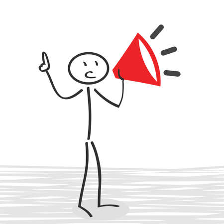Advertising, megaphone information - stock vector Ilustração