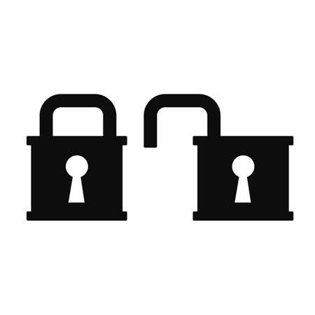 Lock icons - stock vector