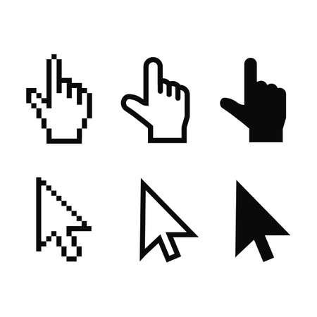 Set of flat modern cursor icons - stock vector Vecteurs