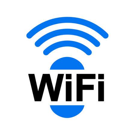 Wifi zone location icon - vector