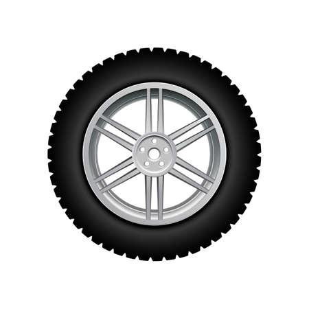 Black auto tire - vector Vektoros illusztráció