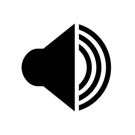 Audio speaker volume icon for apps and websites - for stock 向量圖像