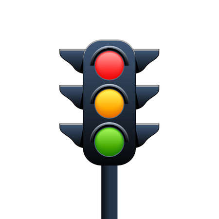 Traffic lights sign - for stock
