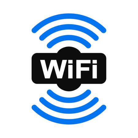 Wifi zone location icon - vector for stock