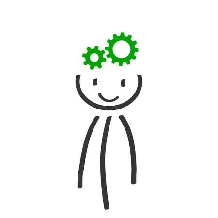 Decision problem, solving process, generator ideas, succeed - for stock Ilustração