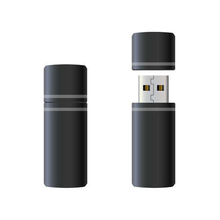 USB flash drive - vector for stock