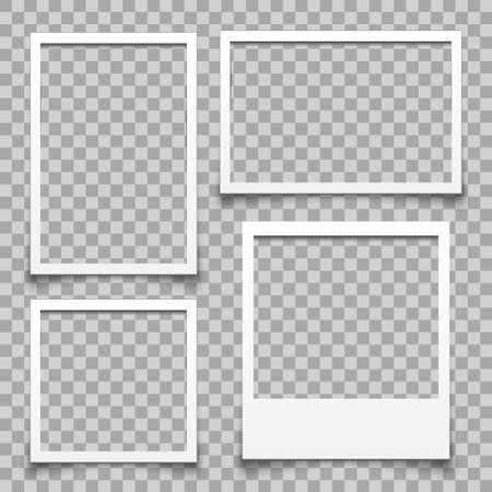 Empty white photo frame - for stock Ilustracja