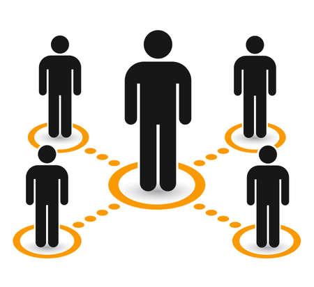 Group people icon set. Teamwork, staff, partnership - vector