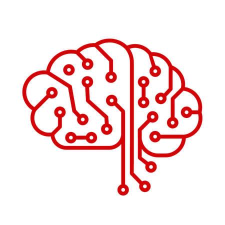 Creative technology human brain with neural bonds - vector for stock