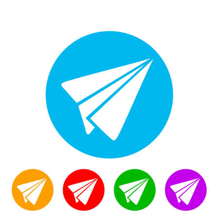 Send symbol, paper airplane icon - for stock