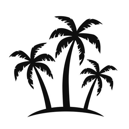 Palm tree silhouettes - vector for stock