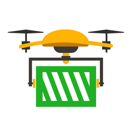 Delivery drone, fast shopping service - stock vector