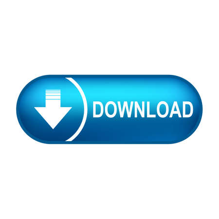 Download button illustration with down arrow icon isolated. Load symbol. Flat design - for stock vector