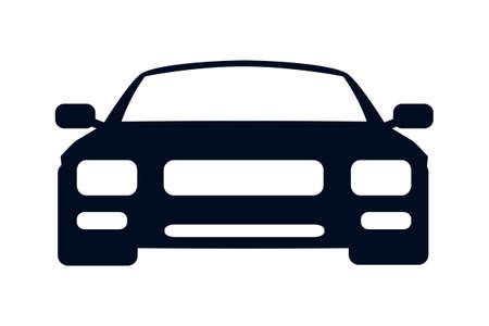 Car icon silhouette - vector