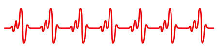 Heart pulse, cardiogram sign, heartbeat, one line - vector illustration 版權商用圖片 - 157298071