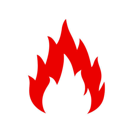 Fire icon. Flame sign - vector for stock Ilustracja