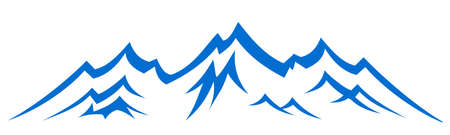 Mountain ridge with many peaks - vector Illustration