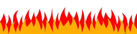 Fire on a white background. Vector illustration for design - vector illustration Ilustracja
