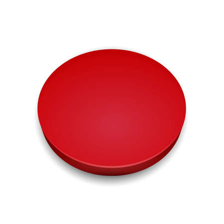 Red button sign - vector Illustration