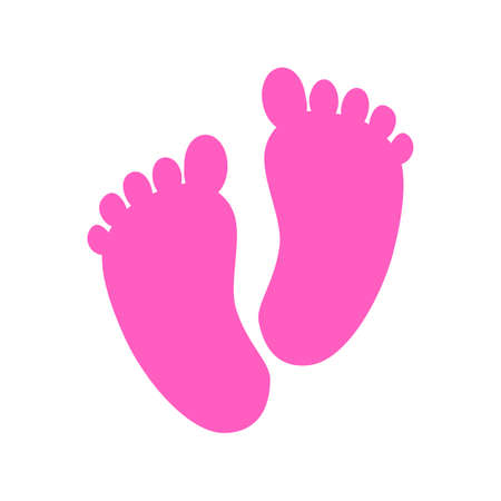 Baby footprints icon - stock vector
