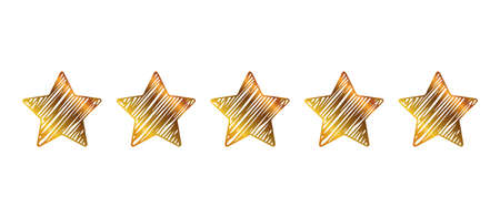 Five stars, rating signs, customer reviews - vector