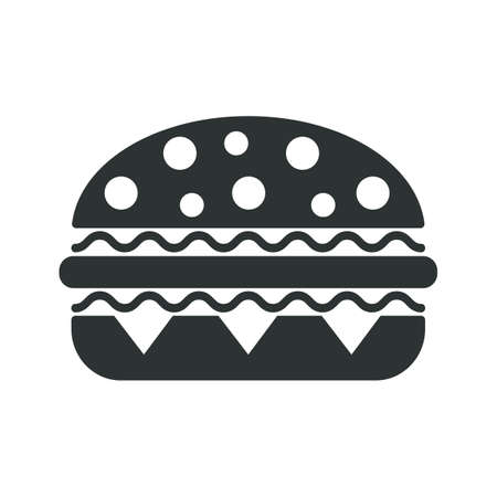 Hamburger flat icon - for stock Ilustracja