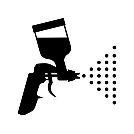 Paint gun icon. Airbrush symbol - stock vector