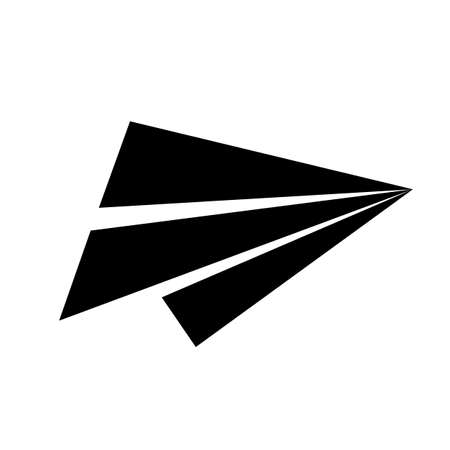 Send symbol, paper airplane icon - vector for stock