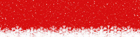 Red New Year snowflake background - vector for stock Ilustracja