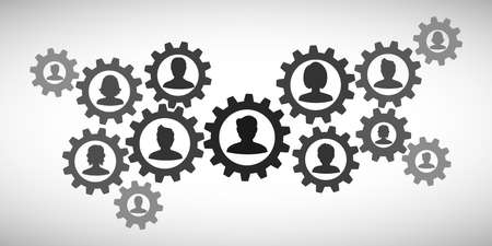 Concept teamwork, staff, partnership - for stock