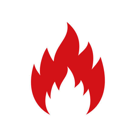 Fire icon. Flame sign - for stock vector