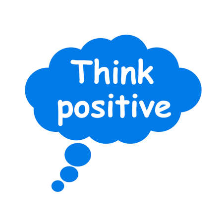 Think positive, cloud icon - vector
