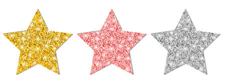 Set of colorful stars - vector for stock