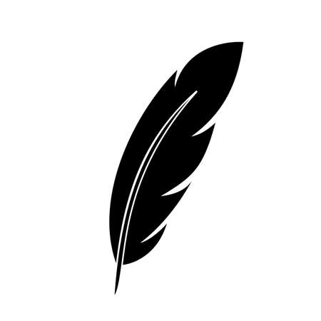 Feather icon sign - for stock Ilustracja