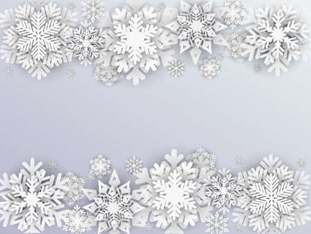 White New Year snowflake background - vector