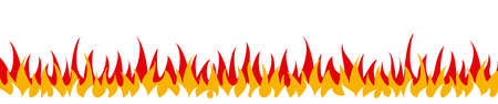 Flame on a white background. Vector illustration for design - stock vector  イラスト・ベクター素材