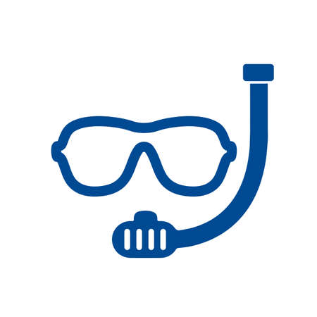 Underwater mask icon, snorkel logo design, scuba mask - stock vector
