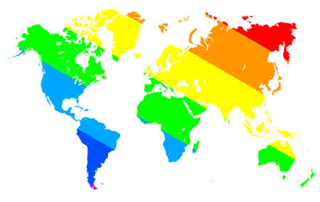 Gay pride world map. Gay pride concept - for stock