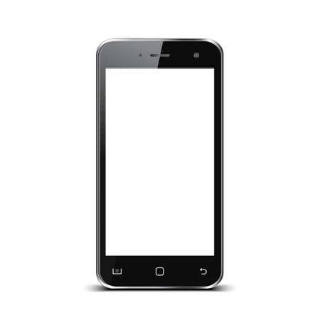 Black smartphone with white touch screen - for stock Ilustração
