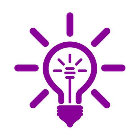 Idea, creative concept sign bulb - vector for stock