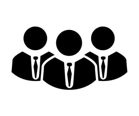Teamwork icon, staff, partnership, three person - for stock vector Ilustração