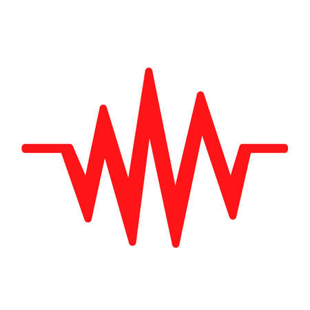 Sound wave sign - for stock 向量圖像