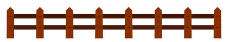 Wood fence - vector
