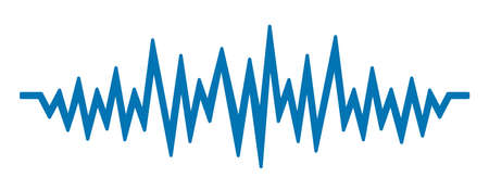 Sound wave sign - vector Ilustracja