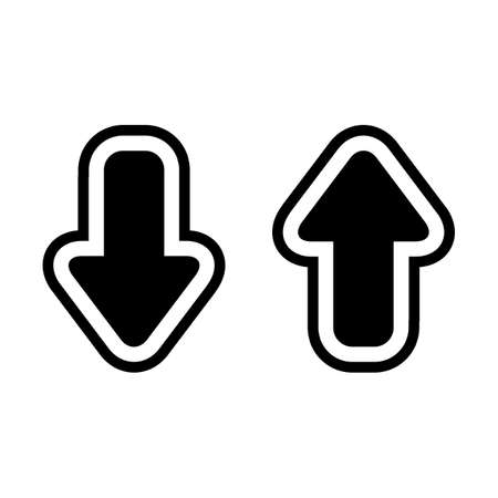 Arrow icon up and down - vector
