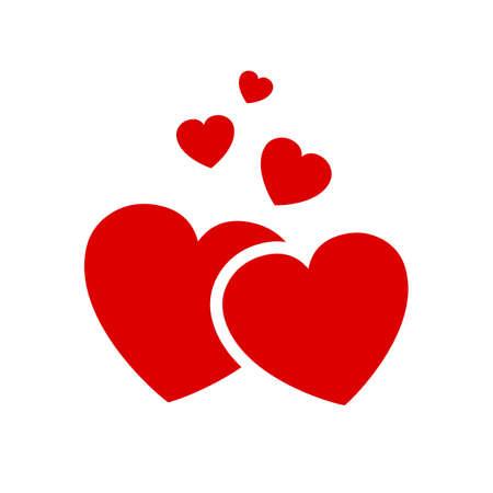 Five beautiful hearts - stock vector