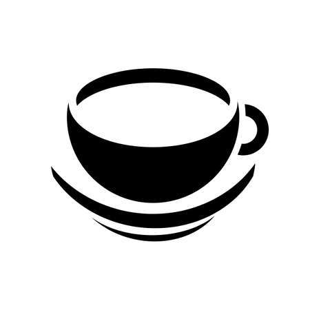 Elegant cup of coffee icon sign - for stock Иллюстрация
