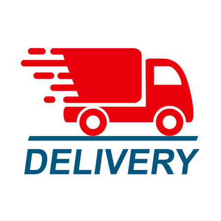 Delivery truck, fast shipping service - vector Иллюстрация