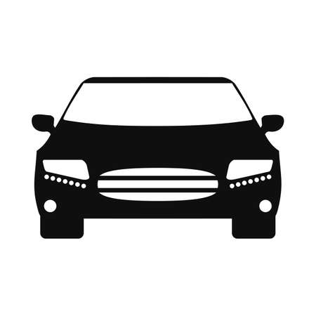 Car icon silhouette - for stock