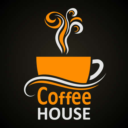 Coffee house. Elegant cup of coffee icon sign  vector